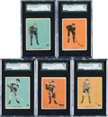 Hockey Cards:Lots, 1933 Hamilton Gum Hockey SGC-Graded Collection (5) With Morenz....
