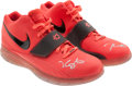 Basketball Collectibles:Others, 2010 Kevin Durant Game Worn, Signed Shoes - Worn in his FirstAll-Star Game!...