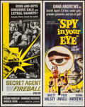 """Movie Posters:Adventure, Spy in Your Eye and Other Lot (American International, 1966).Inserts (2) (14"""" X 36""""). Adventure.. ... (Total: 2 Items)"""