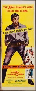 """Movie Posters:Western, The King and Four Queens (United Artists, 1957). Insert (14"""" X 36""""). Western.. ..."""