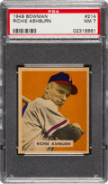 Baseball Cards:Singles (1940-1949), 1949 Bowman Richie Ashburn #214 PSA NM 7....