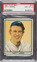 Baseball Cards:Singles (1940-1949), 1941 Play Ball Lefty Gomez #72 PSA NM-MT 8....