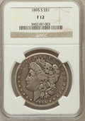 Morgan Dollars, 1895-S $1 Fine 12 NGC. NGC Census: (97/1534). PCGS Population(162/2660). Mintage: 400,000. Numismedia Wsl. Price for probl...