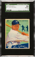 Baseball Cards:Singles (1930-1939), 1934 Goudey Lou Gehrig #61 SGC 88 NM/MT 8 - Pop Four, None Higher! ...