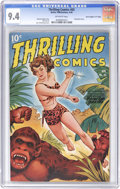 """Golden Age (1938-1955):Adventure, Thrilling Comics #65 Davis Crippen (""""D"""" Copy) pedigree (Better Publications, 1948) CGC NM 9.4 Off-white pages. This airbrush..."""