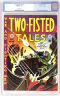Golden Age (1938-1955):War, Two-Fisted Tales #27 Gaines File pedigree 7/10 (EC, 1952) CGC NM/MT9.8 Off-white pages. Beautiful colors characterize this ...