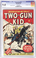 "Golden Age (1938-1955):Western, Two-Gun Kid #1 Davis Crippen (""D"" Copy) pedigree (Marvel, 1948) CGCVF/NM 9.0 Off-white pages...."