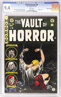 Golden Age (1938-1955):Horror, Vault of Horror #39 Gaines File pedigree, 11/12 (EC, 1954) CGC NM9.4 White pages. Johnny Craig contributes a bondage cover ...