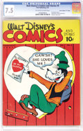 """Golden Age (1938-1955):Cartoon Character, Walt Disney's Comics and Stories #5 Davis Crippen (""""D"""" Copy) pedigree (Dell, 1941) CGC VF- 7.5 Off-white to white pages. Wha..."""