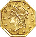 California Fractional Gold, 1854 $1 Large Eagle Octagonal 1 Dollar, BG-504, Low R.5, AU58NGC....
