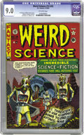 Golden Age (1938-1955):Science Fiction, Weird Science #14 (#3) (EC, 1950) CGC VF/NM 9.0 Off-white pages.Post-apocalyptic scenarios were revisited several times by ...(Total: 1 Comic Book)