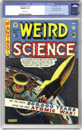 Golden Age (1938-1955):Science Fiction, Weird Science #5 Gaines File pedigree (EC, 1951) CGC NM/MT 9.8Off-white pages. Al Feldstein's atomic explosion cover set th...