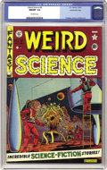 Golden Age (1938-1955):Science Fiction, Weird Science #8 Gaines File pedigree 2/12 (EC, 1951) CGC NM/MT 9.8Off-white pages. Here's an out-of-this-world copy of thi...