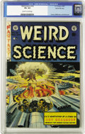 "Golden Age (1938-1955):Horror, Weird Science #18 Gaines File pedigree 2/12 (EC, 1953) CGC VF+ 8.5Off-white to white pages. ""Mars is Heaven,"" one of EC's b..."