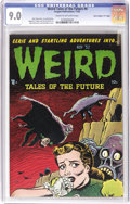 "Golden Age (1938-1955):Horror, Weird Tales of the Future #4 Davis Crippen (""D"" Copy) pedigree(Aragon, 1952) CGC VF/NM 9.0 Cream to off-white pages. The co..."