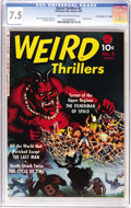 "Golden Age (1938-1955):Horror, Weird Thrillers #2 Davis Crippen ('D"" Copy) pedigree (Ziff-Davis, 1951) CGC VF- 7.5 Cream to off-white pages. This publisher..."