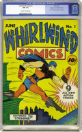 Golden Age (1938-1955):Superhero, Whirlwind Comics #1 Mile High pedigree (Nita Publication, 1940) CGC NM 9.4 Off-white to white pages. The Cyclone roars into ...