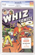 "Golden Age (1938-1955):Superhero, Whiz Comics #74 Davis Crippen (""D"" Copy) pedigree (Fawcett, 1946) CGC VF/NM 9.0 Off-white pages. Here's the best copy we've ..."
