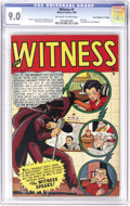 """Golden Age (1938-1955):Crime, Witness #1 Davis Crippen (""""D"""" Copy) pedigree (Marvel, 1948) CGC VF/NM 9.0 Off-white to white pages. The Crippen collection i..."""