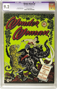 Wonder Woman #9 (DC, 1944) CGC NM- 9.2 Off-white to white pages. Wonder Woman takes on Giganta, who has the mind of a go...