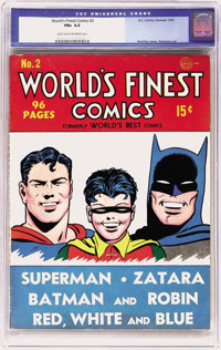World's Finest Comics #2 (DC, 1941) CGC FN+ 6.5 Light tan to off-white pages