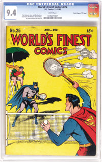 """World's Finest Comics #25 Davis Crippen (""""D"""" Copy) pedigree (DC, 1946) CGC NM 9.4 White pages. Finding one of..."""