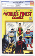 """Golden Age (1938-1955):Superhero, World's Finest Comics #32 Davis Crippen (""""D"""" Copy) pedigree (DC, 1948) CGC VF+ 8.5 Off-white to white pages. Seeing as how t..."""