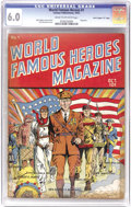 "Golden Age (1938-1955):Non-Fiction, World Famous Heroes Magazine #1 Davis Crippen (""D"" Copy) pedigree(Centaur, 1941) CGC FN 6.0 Cream to off-white pages. A fla..."