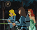 "Original Comic Art:Miscellaneous, ""Batman: The Animated Series"" Poison Ivy Production Cel (WarnerBros., 1992). Alfred and his friend, Maggie Paige, are lured... (2items)"