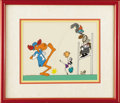 "Animation Art:Limited Edition Cel, Bullwinkle, Rocky, Boris and Natasha ""Football"" Limited EditionHand Painted Cel Original Art (Jay Ward Productions, 1988). ..."