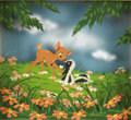 "Animation Art:Limited Edition Cel, Walt Disney Studios - ""Bambi"" Multiplane Painting Original Art (Disney, 1942). Multiplane original art is very rare from Dis..."