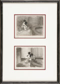 "Animation Art:Production Drawing, Walt Disney Studios - ""The Sorcerer's Apprentice"" StoryboardDrawing Original Art, Group of 2 (Disney, 1940). Here are two d..."