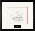 "Animation Art:Production Drawing, Walt Disney Studios - ""The Sorcerer's Apprentice"" AnimationProduction Drawing Original Art (Disney, 1940). Brash, young wiz..."