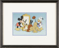 Animation Art:Production Cel, Mickey Mouse, Donald Duck, and Pluto Hand Painted Publicity Cel Original Art (Disney, undated). Mickey Mouse and Donald Duck...