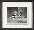 "Animation Art:Limited Edition Cel, ""Puppy Love"" Recreation Production Cel Original Art (Disney,1970s). Mickey and Minnie never looked so good as in this hand-..."