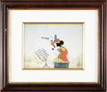 "Animation Art:Limited Edition Cel, Mickey Mouse ""The Band Concert"" Limited Edition Hand Painted Cel #90/275 Original Art (Disney, 1993). This is a limited edit... (Total: 2 Items)"