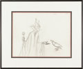 "Animation Art:Production Drawing, Walt Disney Studios - ""Sleeping Beauty"" Original Pencil AnimationDrawing (Disney, 1959). The wicked fairy, Maleficent, has ..."