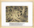 "Animation Art:Production Drawing, Walt Disney Studios - ""Snow White and the Seven Dwarfs"" Concept Drawing Animation Art (Disney, 1936). A tangle of dark, gnar..."