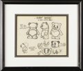 "Animation Art:Production Drawing, ""Baby Panda"" Model Sheet Animation Art (Walter Lantz Productions,circa 1939). There's nothing cuter than a baby panda! When..."