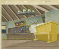 """Animation Art:Production Drawing, Woody Woodpecker """"Hot Noon"""" Hand Painted Background Original Art(Walter Lantz Productions, 1953). Woody is a piano player i..."""