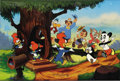 "Animation Art:Limited Edition Cel, ""Woody Greets His Friends"" Limited Edition Hand Painted Cel#248/500 Original Art (Walter Lantz Productions, 1989). This lim..."