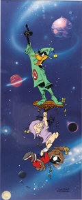 "Animation Art:Limited Edition Cel, ""Duck Dodgers Finale"" Limited Edition Sericel #270/750 (Warner Bros., 1993). The remaining area claimed by Dodgers at the en..."