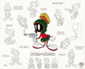 "Animation Art:Limited Edition Cel, ""Model Sheet: Marvin the Martian"" Limited Edition Hand Painted Cel #556/750 Original Art (Warner Bros., 1996). The Centurion... (Total: 2 Items)"