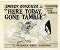 Animation Art:Production Drawing, Speedy Gonzales Lobby Card Drawings Original Art Animation, Groupof 2 (Warner Bros., 1959). Speedy Gonzales and Sylvester m...(Total: 2 Items)
