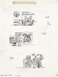 Original Comic Art:Sketches, Sergio Aragones - Mad #306 Page Original Art, Group of 4 (EC, 1991). Sergio Aragones gives us a new perspective on the past,... (Total: 4 Items)