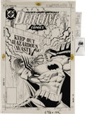Original Comic Art:Covers, Norm Breyfogle - Detective Comics #588 Cover Original Art (DC,1988). Batman finds himself in the ghastly grip of the Corros...