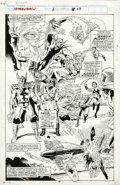 Original Comic Art:Splash Pages, Rich Buckler and Danny Bulanadi - The Saga of the Human Torch #2,Splash page 22 Original Art (Marvel, 1990). The two-man te...