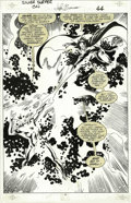 Original Comic Art:Panel Pages, John Buscema and Vince Mielcarek - Silver Surfer: Judgment Day,page 46 Original Art (Marvel, 1988). The Prince of Evil, Mep...