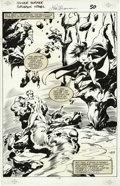 Original Comic Art:Panel Pages, John Buscema and Vince Mielcarek - Silver Surfer: Judgment Day,page 52 Original Art (Marvel, 1988). The stakes of the game ...