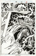 Original Comic Art:Splash Pages, John Buscema and Scott Koblish - Doom 2099 #40, Splash page 13Original Art (Marvel, 1996). The Dr. Doom of 1996 finally mee...